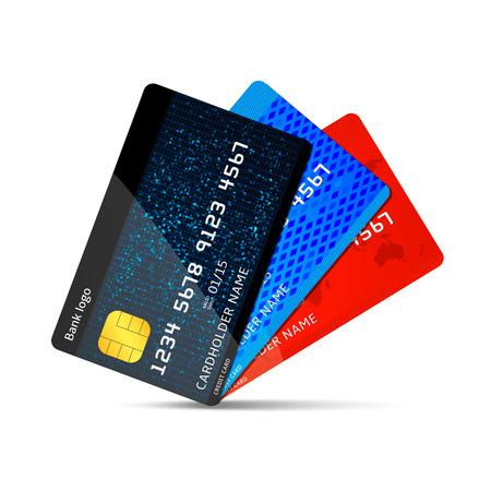 credit card: Vector credit card Illustration