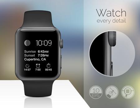 wrist watch: Smart watch isolated Illustration