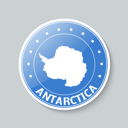 antarctica: Antarctica map button concept