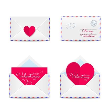 Valentines envelopes Vector