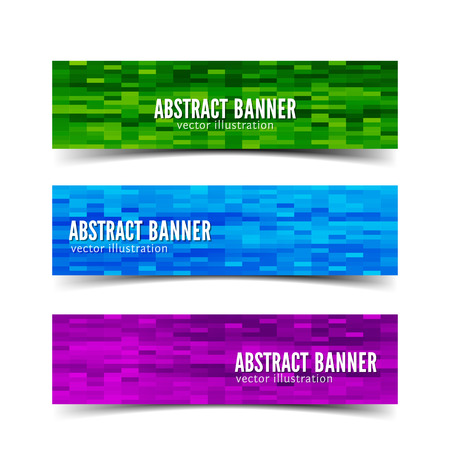 web banners: Three abstract vector banner