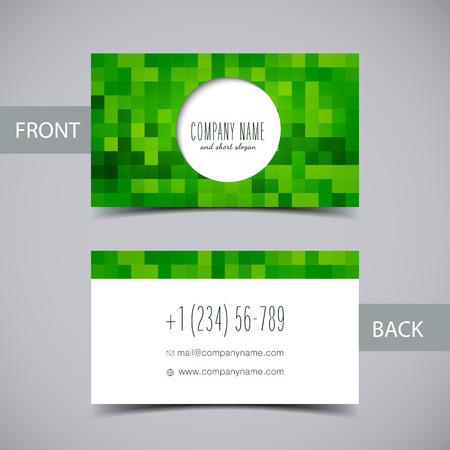 personalausweis: Visitenkarte Illustration