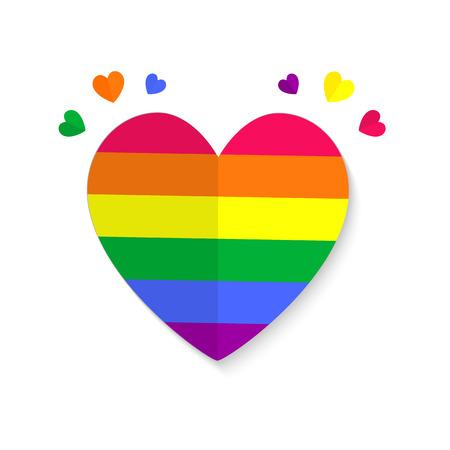 Valentines lgbt emblem Vector