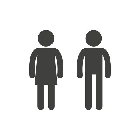 Man and woman pictogram Stock Vector - 36352863