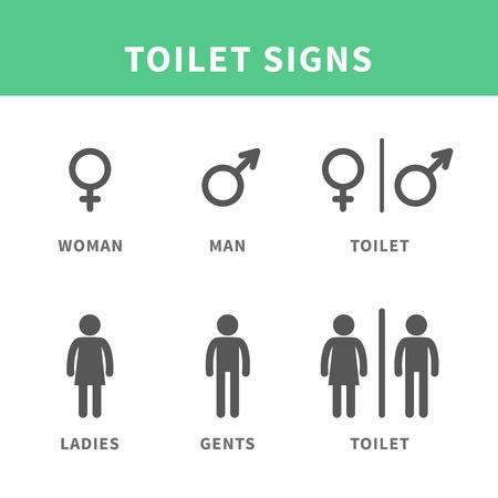 male female: Man and woman pictogram