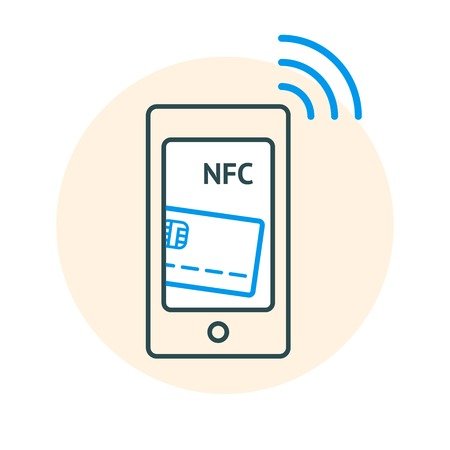 banking and finance: NFC technology concept Illustration