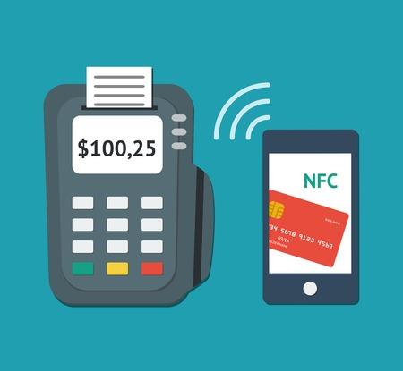 nfc: NFC technology concept Illustration