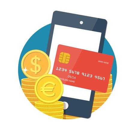 NFC technology concept Stock Illustratie