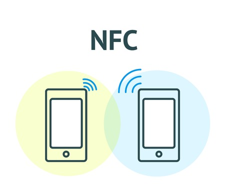 nfc: NFC technology concept Illustration