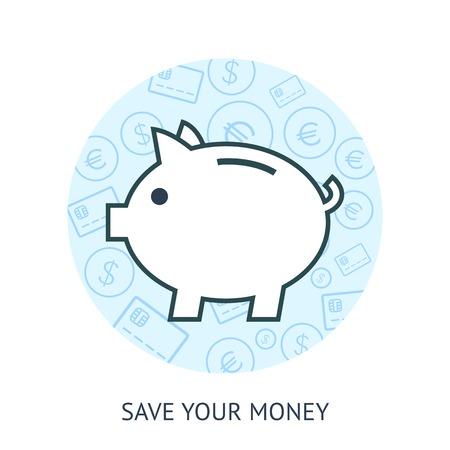 thrift: Ahorra dinero concepto
