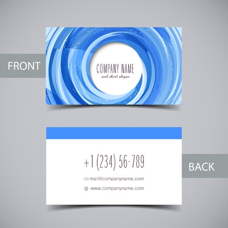 business card template: Business card