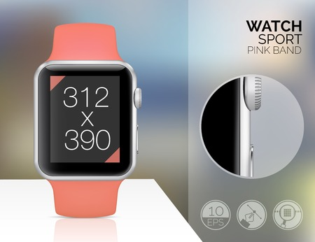 wristbands: Smart watch isolated Illustration