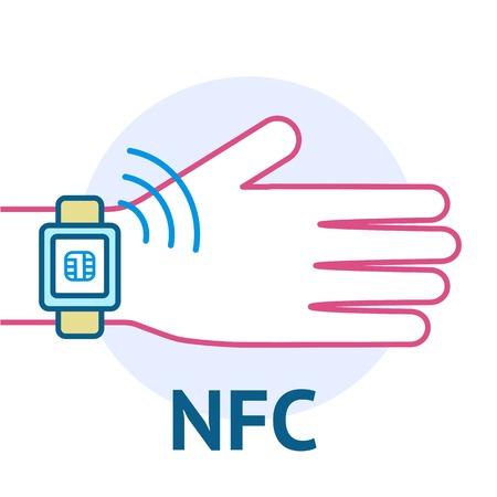 nfc: Mobile payment concept Illustration