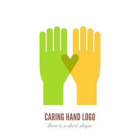 aide à la personne: Icône de la main Caring Illustration