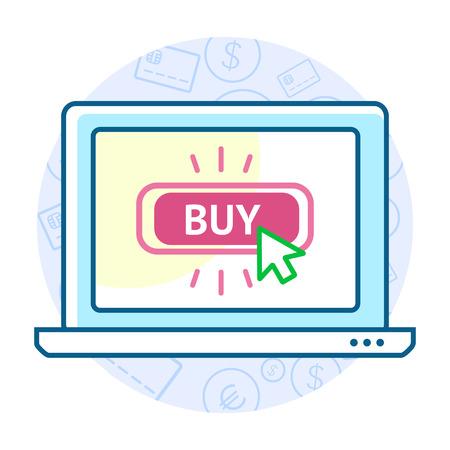 e pay: Online shopping concept