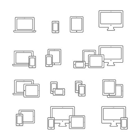 electronic device: Device icons set