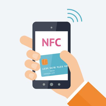 e wallet: Online payment concept Illustration