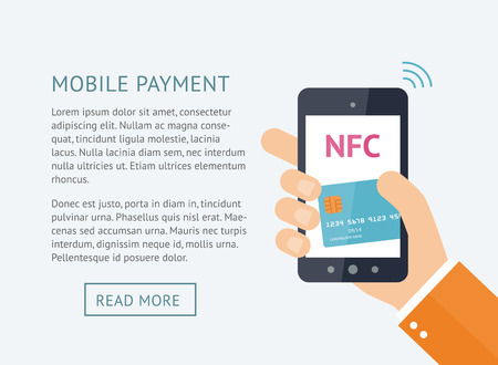 Online payment concept Illustration