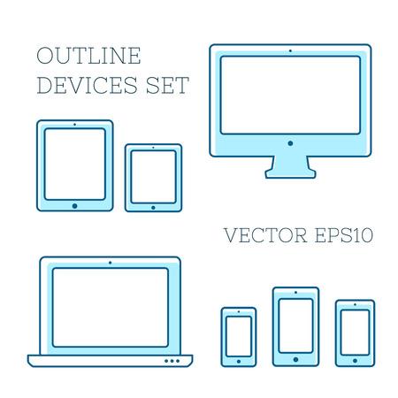 device: Device icons set