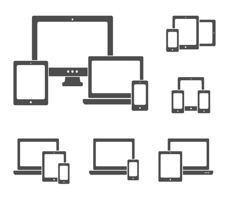 laptop: Device icons set