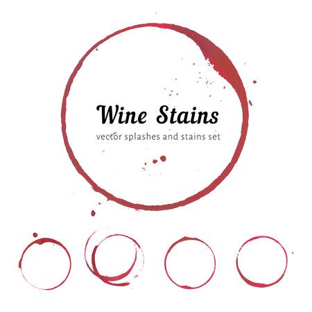 vinho: Círculos mancha de vinho Ilustração
