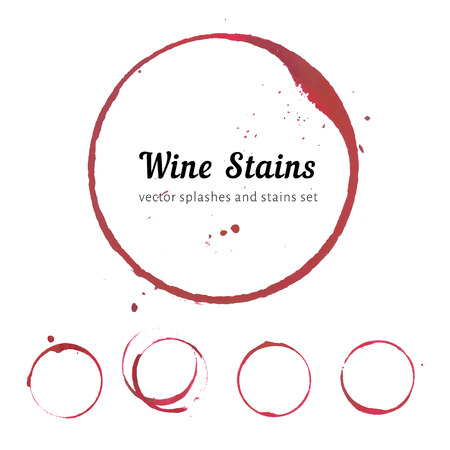 white wine: Wine stain circles