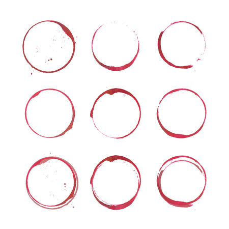 white wine glass: Wine stain circles
