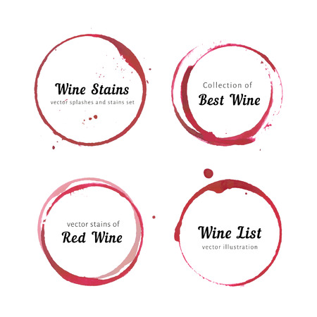 vermelho: C�rculos mancha de vinho Ilustração