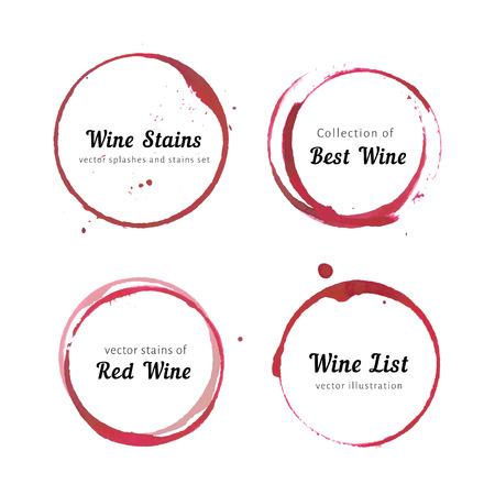 roses rouges: cercles de tache de vin
