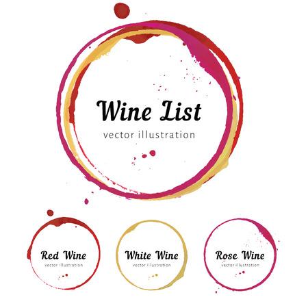 bebiendo vino: Círculos mancha de vino