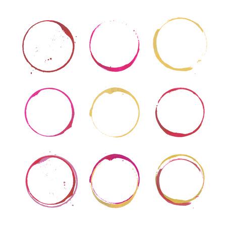 Weinfleck Kreise Standard-Bild - 39576207