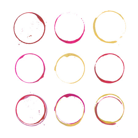 Wine stain circles Stock Vector - 39576207