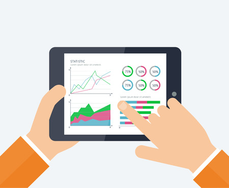 banking concept: Online banking statistics concept