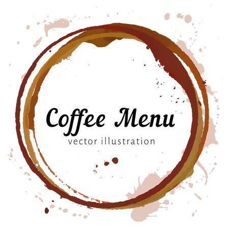 Círculos de manchas de café Foto de archivo - 41049313