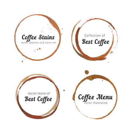 로고 커피 얼룩 원