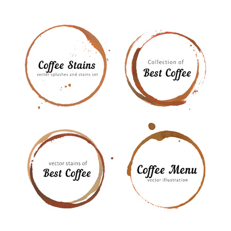 drink coffee: Coffee stain circles for logo