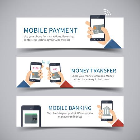 online banking: Online banking concept Illustration