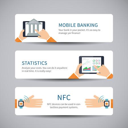 banking concept: Online banking concept Illustration