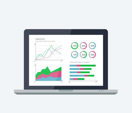 Online banking statistics concept