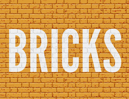 revetment: Grunge brick wall with space for text