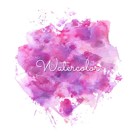paiting: Vector pink watercolor spot isolated on white background. Vector template for your flayers, banners, cards design. Hand paiting watercolour elements with space for your text.