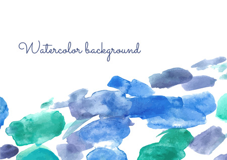 paiting: Gorizontal Vector watercolor spot background. Vector template for your flayers, banners, cards design. Hand paiting watercolour elements with space for your text. Illustration