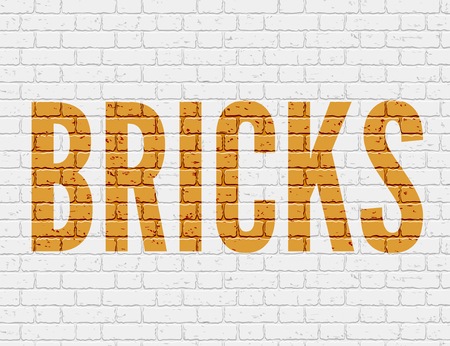 bakstenen muur: White grunge brick wall. Vector illustration  Stock Illustratie