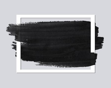 cadre de papier vide avec coup de pinceau pour votre modèle de text.Banner. Vecteur abstrait.