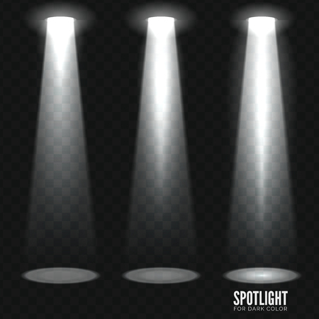 limelight: Stage spotlight on dark transparent background. Vector scene illuminated spotlight. Stage spotlight. Spotlight background vector. Show scene spotlight. Spotlight glow effect on transparent background. Illustration