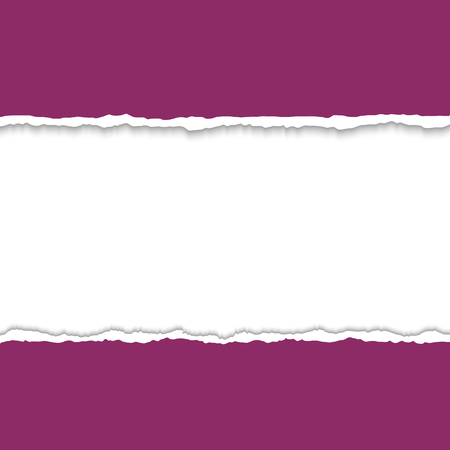 torn paper edges: Torn paper with ripped paper edges. Vector colorful torn paper background with white copyspace and ripped torn paper edges. Torn paper frame for text. Hole in paper on white background. Illustration