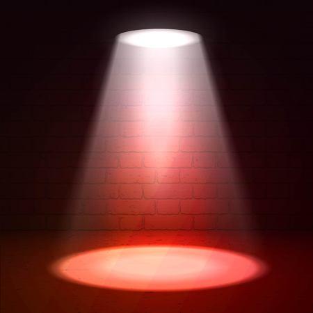 floodlight: Stage spotlight on dark background. scene illuminated spotlight. Stage spotlight. Spotlight background . Show scene spotlight. Spotlight glow effect scene background. Spotlight on stage.