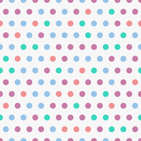 polkadot: Vector background with colorful dots, seamless polkadot pattern. Geometric seamless pattern with circles. Background for pop art illustration Illustration