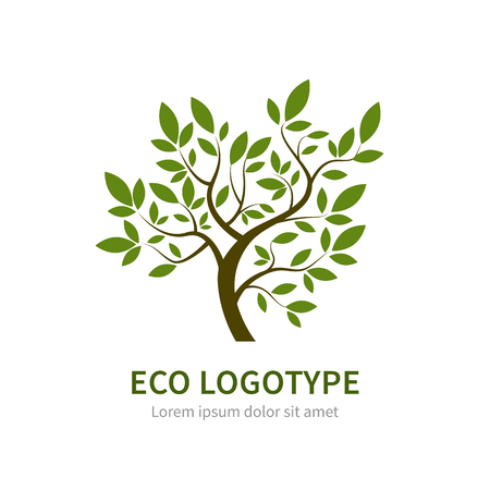Stylized vector simple tree. Vector tree for gardening and environment concepts. Eco Ilustracja