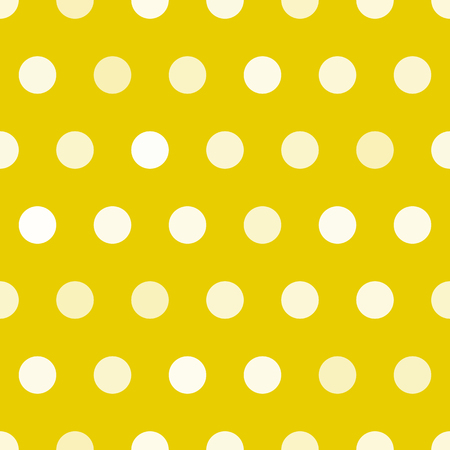 polkadot: Dotted texture, gold and white circles vector seamless pattern. Polkadot seamless pattern. Print for carpet, textile
